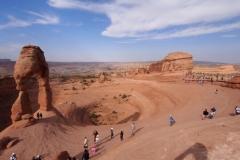 Delicate Arch mit vielen anderen Touristen!