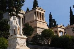 das Grab von Heinrich Schliemann auf dem 1. Athener Friedhof