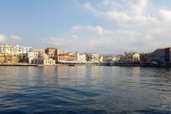 Sonne pur am venezianischen Hafen im  Chania