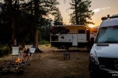 unser Stellplatz vor den Toren Yellowstones // foto by Ivan Perez Lopez