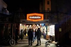 der Beweis dass wir auch abends unterwegs waren: der Karavan Streetfoodmarket