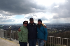 mit Ingrid und Herbert auf dem Kahlenberg in Wien
