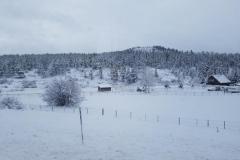 tief verschneite Rocky Mountains