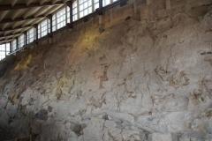 die Ausstellungshalle der Dinosaurier Fossilien
