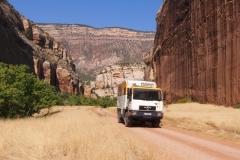 auf der Rückfahrt im Golden Canyon