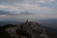 Auf dem ersten Gipfel