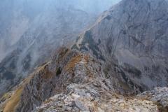 Abstieg vom Grat