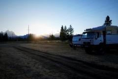 unser Stellplatz im Teton Nationalpark