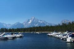 das Teton Massiv vom Jackson Lake aus