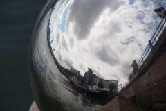 Helsinki in einer Kugel