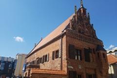 Perkunas Haus mit gotischen Giebeln
