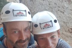 Vorm Einstieg in den Klettersteig
