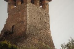 Die kläglichen Rest der Burg von Kruja