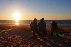 beginnender Sonnenuntergang bei Mikeltornis