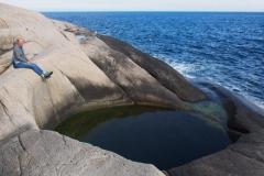 Gletschertöpfe an der Küste