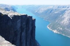 Blick vom Kjerag auf den Lysefjord