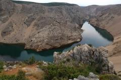 Blick vom Marterpfahl auf den Rio Pecos