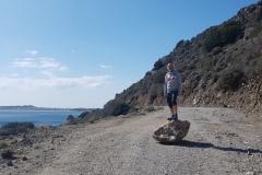 """""""kleiner"""" Steinschlag auf der Küstenpiste"""