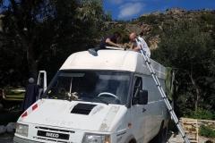 die Solaranlage von Judith&Flo wird wieder fit gemacht