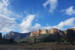 die Kletterwände in Leonidio