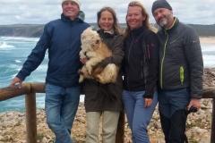 Andrea, Hans und Bo mit uns Beiden