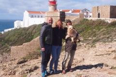 Andrea mit Bo und uns