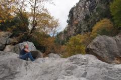 steile Wände mit leider losen Steinen