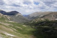 Blick in den Rocky Mountains NP von 3600 m Höhe