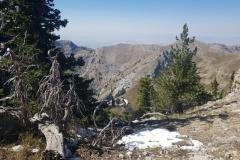 Schnee! auf dem Weg zum Naomi Peak auf gut 3000 Meter Höhe
