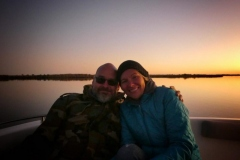 auf abendlicher Bootstour