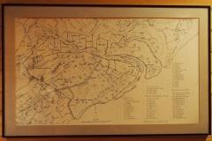 alte Karte des Jagdgebietes