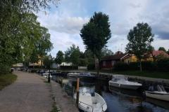 Trosa - wohnen mit Boot vor der Haustüre
