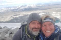 verfroren auf dem Gipfel