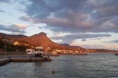 unser Plätzchen im Hafen von Keratokampos