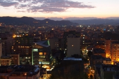 Tirana at sundown