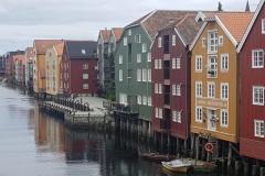 alte Speicherhäuser in Trondheim